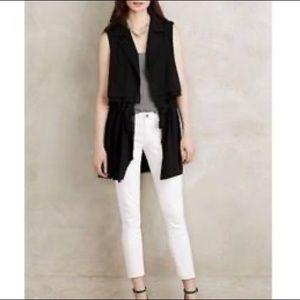 Cartonnier sleeveless tie waist black jacket vest
